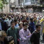 Thousands of Iranian Protestors Shout Down with Palestine